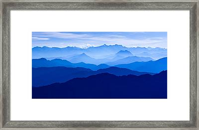 Ask The Mountains Framed Print by Alexander Kunz