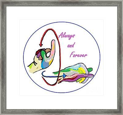 Asl Always And Forever Framed Print