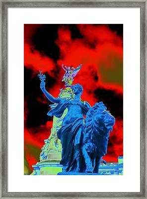 Aslan In Blue Framed Print