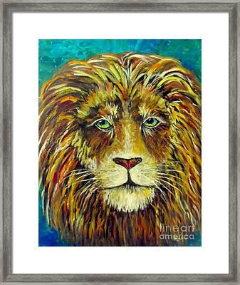 Aslan King Of Narnia Framed Print