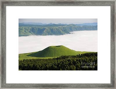 Framed Print featuring the photograph Aso Komezuka Sea Of Clouds Cloud Kumamoto Japan by Paul Fearn