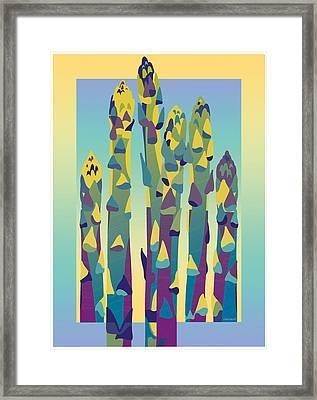 Asparagus Gradient Framed Print