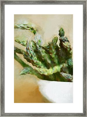 Asparagus Framed Print by HD Connelly