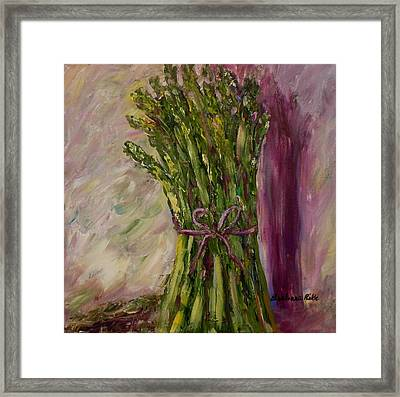 Asparagus Wrapped In A Bow Framed Print by Barbara Pirkle