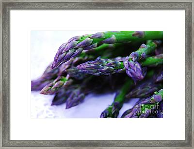 Asparaguy Purple Eye Framed Print by Jim Rossol
