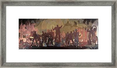 Aspects Of Negro Life Framed Print by New York Public Library/aaron Douglas