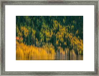 Framed Print featuring the photograph Aspen Abstract by Ken Smith