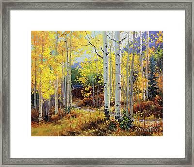 Aspen Cabin Framed Print