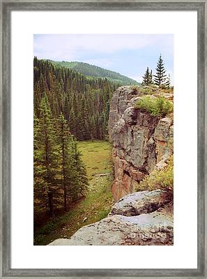 Aspen Cliff Framed Print