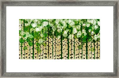 Aspen Colorado Abstract Panorama 2 Framed Print by Andee Design