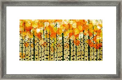 Aspen Colorado Abstract Panorama 4 Framed Print by Andee Design