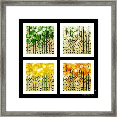 Aspen Colorado Abstract Square 4 In 1 Collection Framed Print