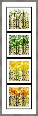 Aspen Colorado Abstract Vertical 4 In 1 Collection Framed Print