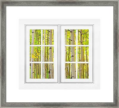 Aspen Forest White Picture Window Frame View Framed Print by James BO  Insogna