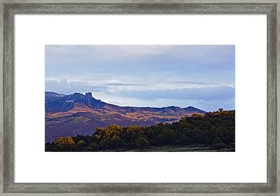 Framed Print featuring the photograph Aspen Glow Two by Eric Rundle
