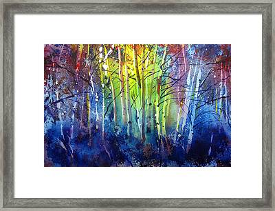 Aspen Grove Framed Print by Kris Parins