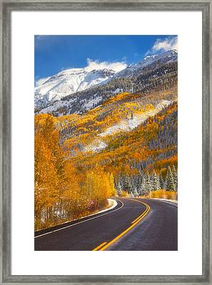 Aspen Highway Framed Print by Darren  White