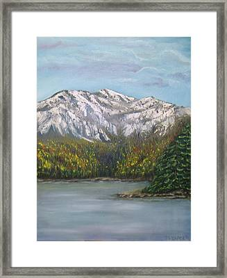 Framed Print featuring the painting Aspen Lake by J L Zarek