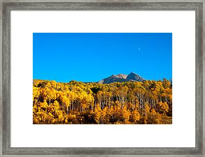 Framed Print featuring the photograph Aspen Moon by Eric Rundle