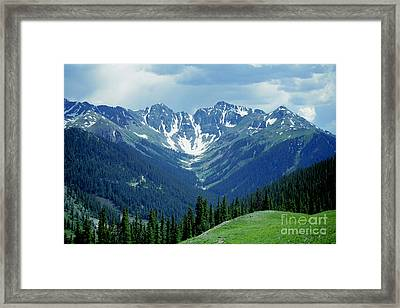 Aspen Mountain Framed Print