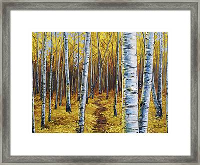 Aspen Trail Framed Print by Aaron Spong