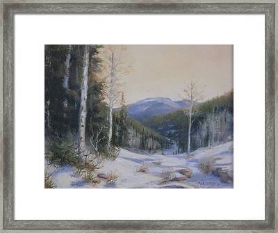 Aspen Trail Framed Print by Mar Evers