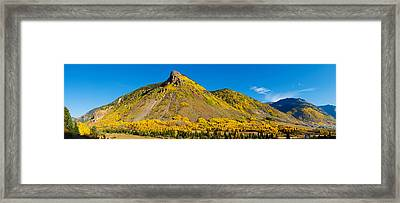 Aspen Trees On Mountain, Anvil Framed Print by Panoramic Images