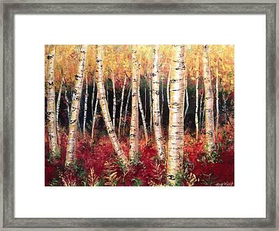 Aspen Woodlands Framed Print by Amy Wyatt