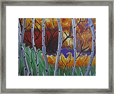 Aspens And Wine Framed Print by Tammy Sutherland