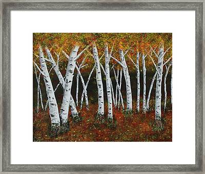 Aspens In Fall 1 Framed Print