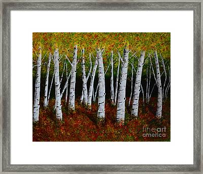 Aspens In Fall 2 Framed Print
