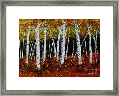 Aspens In Fall 3 Framed Print