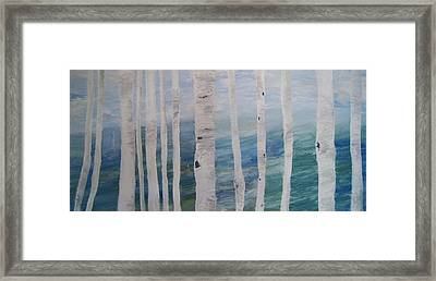 Aspens In Winter Framed Print by Jessie Nolan