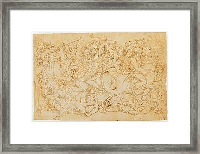 Aspertini Amico, Trajans Battle, 1496 Framed Print by Everett