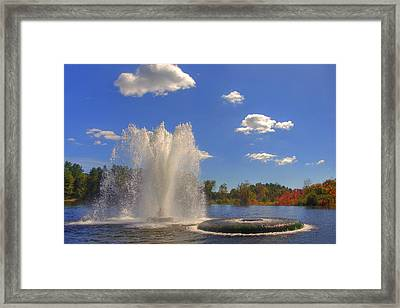 Aspetuck Reservoir Framed Print by Joann Vitali