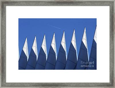 aSPIREing Air Force Academy Chapel with Jet Framed Print