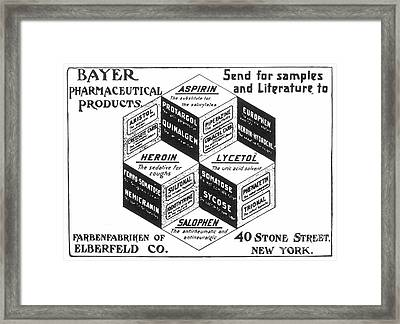 Aspirin Advertisement Framed Print by Granger
