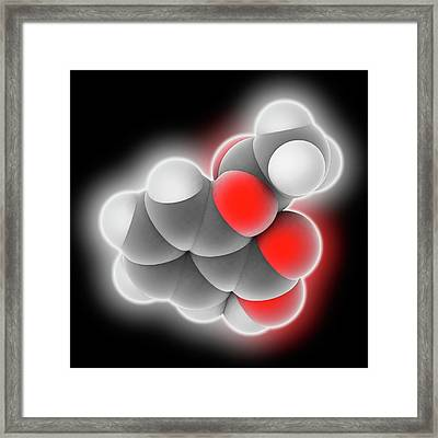 Aspirin Drug Molecule Framed Print by Laguna Design
