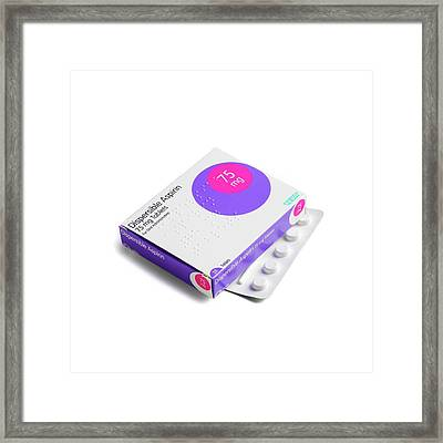 Aspirin Tablets Framed Print by Science Photo Library