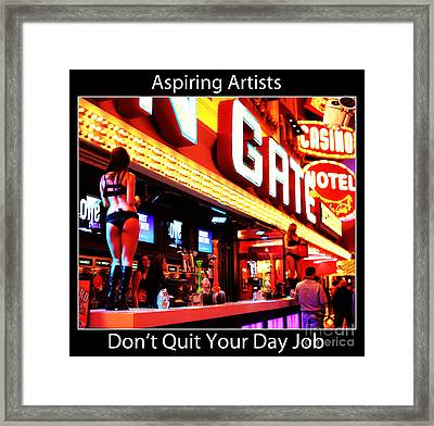 Aspiring Artists Framed Print by John Rizzuto