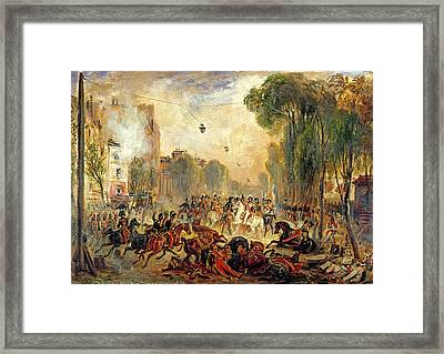 Assassination Attempt On King Louis-philippe 1773-1850 By Giuseppe Fieschi 1790-1836 Boulevard Du Framed Print