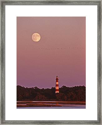 Assateague Lighthouse Va Framed Print by Skip Willits