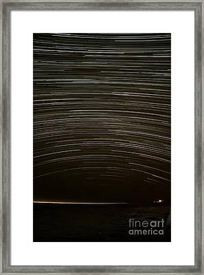 Assateague Star Trails Framed Print by Benjamin Reed