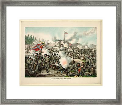 Assault On Fort Sanders Framed Print