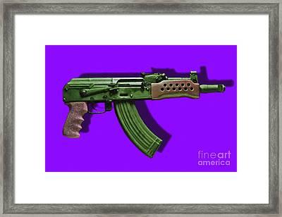 Assault Rifle Pop Art - 20130120 - V4 Framed Print
