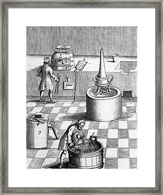 Assay Laboratory For Gold And Silver Framed Print by Universal History Archive/uig