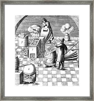 Assaying Copper Framed Print by Universal History Archive/uig