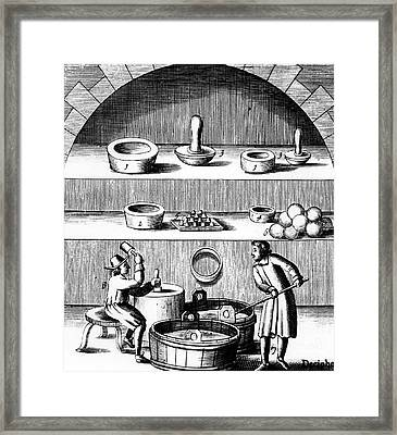 Assaying Of Silver Framed Print by Universal History Archive/uig