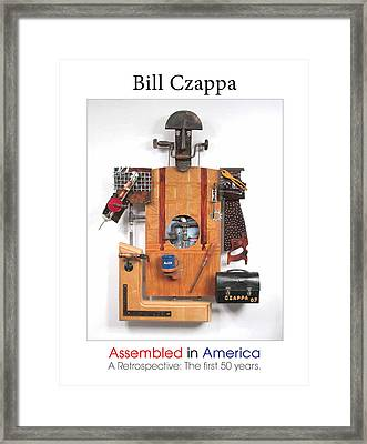 Assembled In America Cover Art Framed Print by Bill Czappa