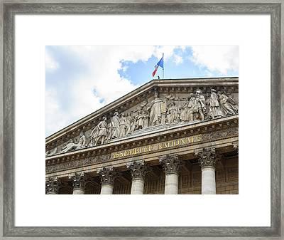 Assemblee Nationale In Paris Framed Print